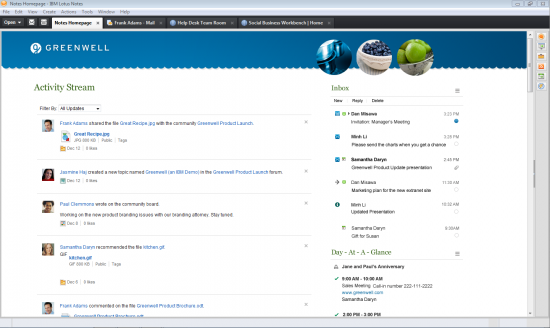 Lotus Notes Next - Integrated HomePage