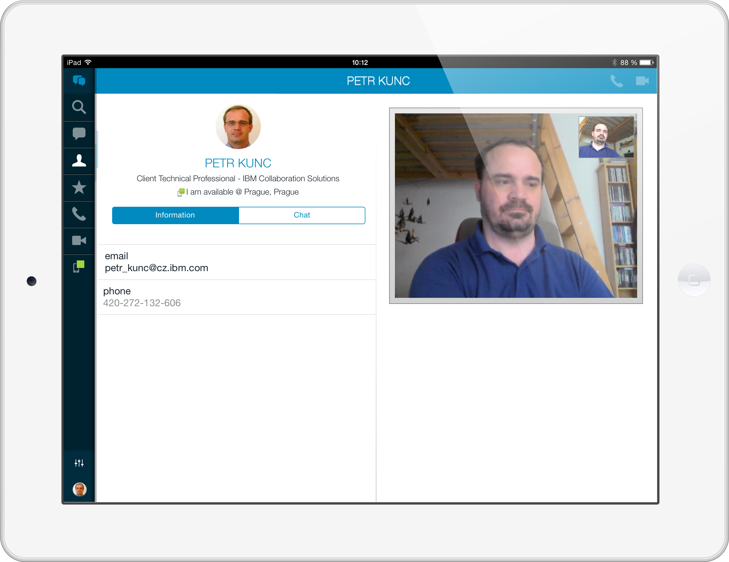 iPad STChat-mobile videocall