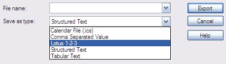 Export v Lotus Notes