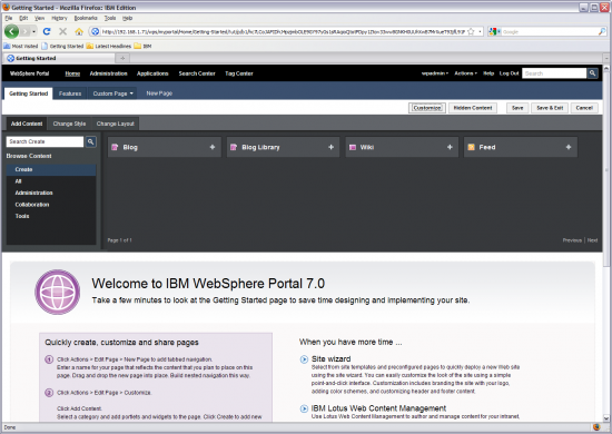 WebSphere Portal 7.0
