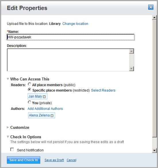 Quickr Folder Security