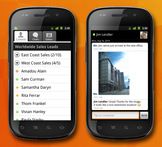 Sametime 8.5.2 v Androidu