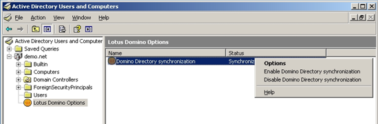 Synchronizace Domino a AD
